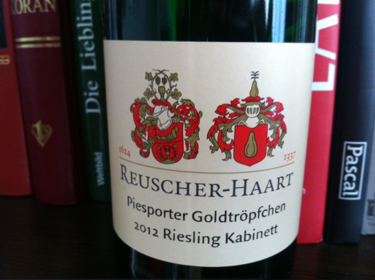 Rieslings from the Reuscher-Haart estate on the Mosel